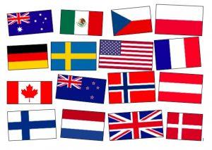 noen flagg i verden