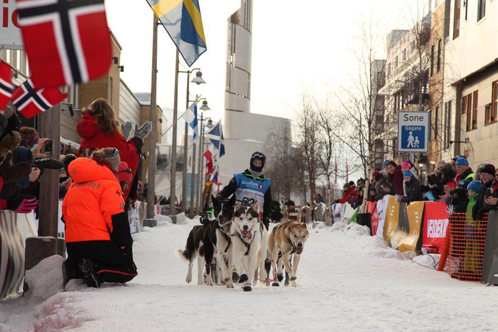 Ole Henrik Isaksen Eira. Den yngste som noen gang har startet i Finnmarksløpet - i dag vant han på første forsøk!