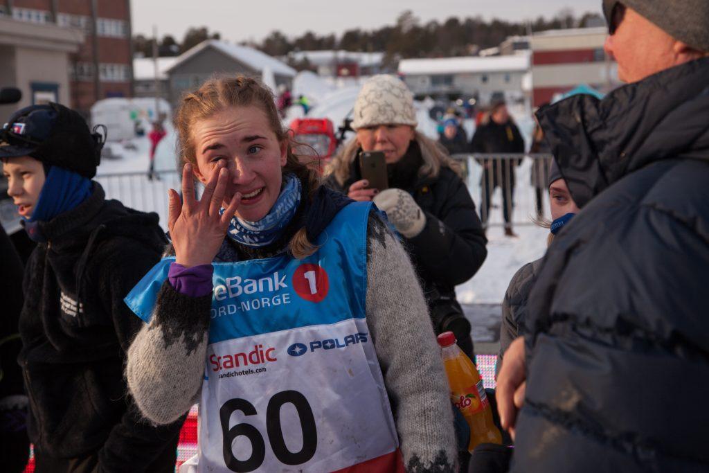 Maria Jøraholmen var rørt og glad da hun lørdag kom inn til en tredjeplass. I dag får hun bronsemedaljen sin. (Foto: Ann Helen Paulsen)