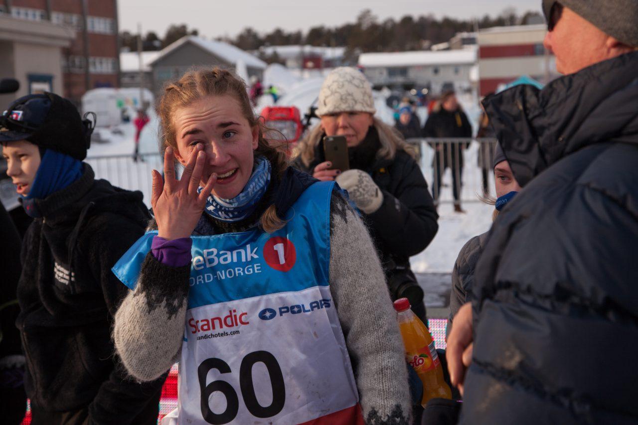 Maria Jøraholmen var rørt og glad da hun lørdag kom inn til en tredjeplass. I dag får hun bronsemedaljen sin.