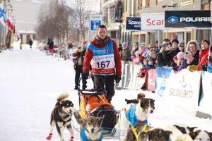 Sindre Kolstad Valan debuterte med bronsjemedalje i sitt aller første Finnmarksløp. (Foto: Ann Christin Pettersen)