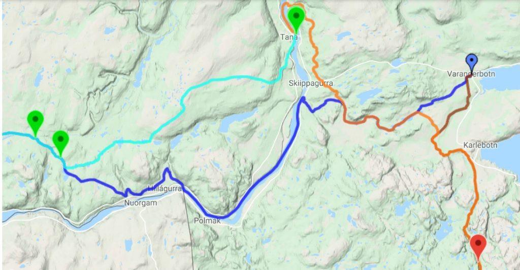 Status for teten i FL-1200 på GPS-kartet på det tidspunkt artikkelen ble skrevet.